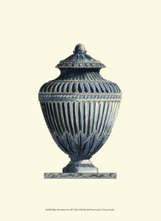 Blue Porcelain Urn III by Vision Studio art print