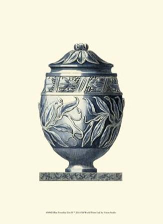 Blue Porcelain Urn IV by Vision Studio art print