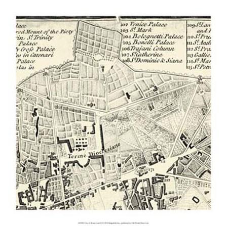 City of Rome Grid II by Vision Studio art print