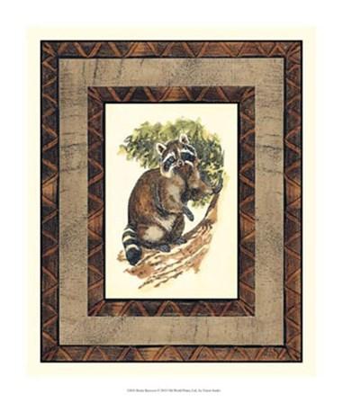Rustic Raccoon by Vision Studio art print