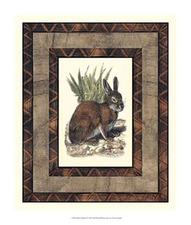 Rustic Rabbit by Vision Studio art print