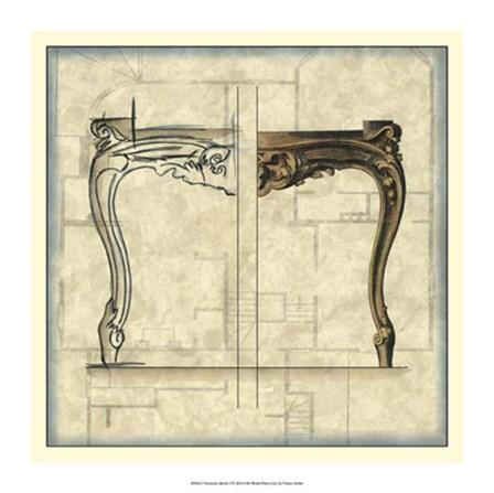 Furniture Sketch I by Vision Studio art print