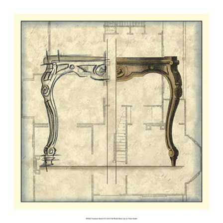 Furniture Sketch II by Vision Studio art print