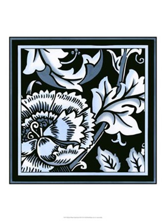 Blue & White Floral Motif III by Vision Studio art print