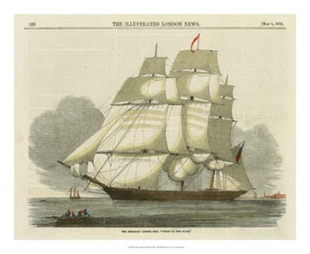 Antique Clipper Ship II by Vision Studio art print
