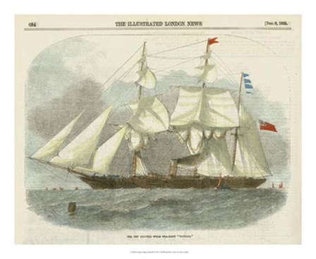 Antique Clipper Ship III by Vision Studio art print