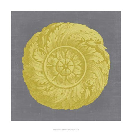 Gilded Rosette I by Vision Studio art print