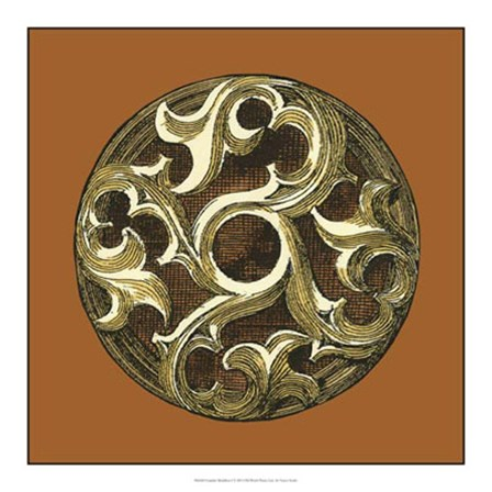 Graphic Medallion I by Vision Studio art print