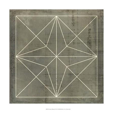 Geometric Blueprint I by Vision Studio art print