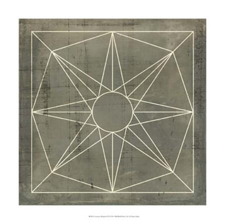 Geometric Blueprint VII by Vision Studio art print