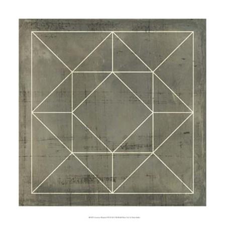 Geometric Blueprint VIII by Vision Studio art print