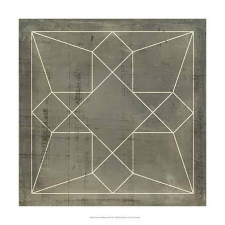 Geometric Blueprint IX by Vision Studio art print