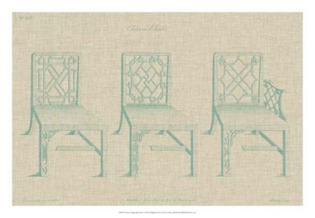 Chinese Chippendale Chairs I by Vision Studio art print
