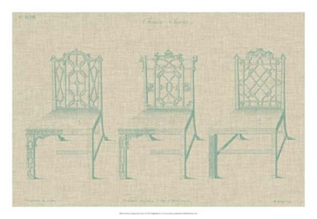 Chinese Chippendale Chairs II by Vision Studio art print
