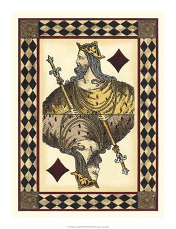 Harlequin Cards II by Vision Studio art print