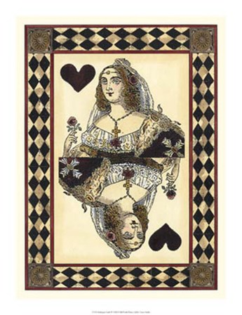 Harlequin Cards III by Vision Studio art print
