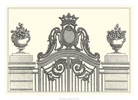 Antique Briseux Gate I by Vision Studio art print