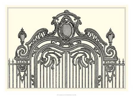 Antique Briseux Gate II by Vision Studio art print
