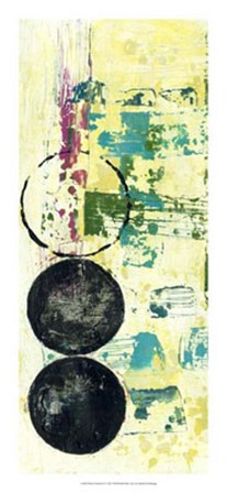 Retro Textures II by Jennifer Goldberger art print