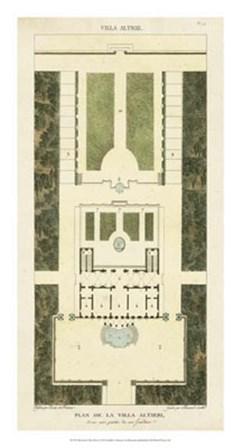 Plan de la Villa Altieri by Pierre Bonnard art print