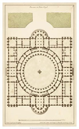Antique Garden Plan III by Jean F. De Neufforge art print