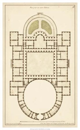 Antique Garden Plan IV by Jean F. De Neufforge art print