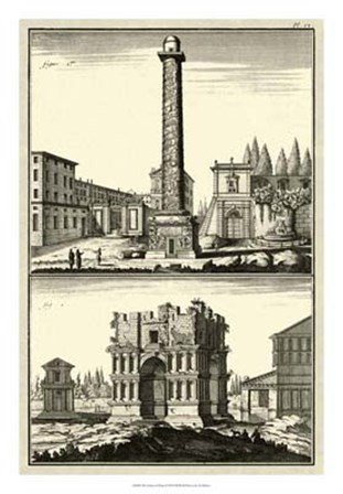 The Column of Trajan by Denis Diderot art print