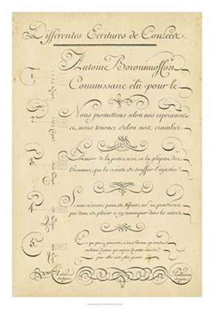 Alphabet Sampler II by Denis Diderot art print