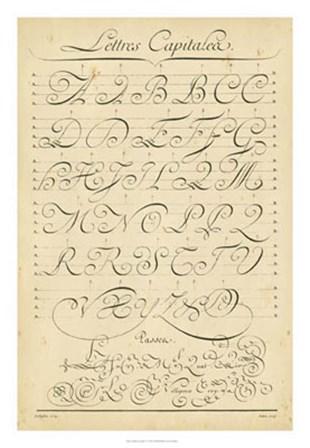 Alphabet Sampler IV by Denis Diderot art print