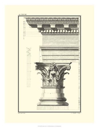 B&W Column and Cornice I by Giovanni Borra art print