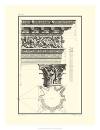B&W Column and Cornice II by Giovanni Borra art print