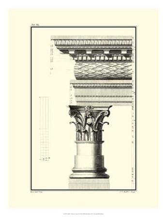 B&W Column and Cornice III by Giovanni Borra art print