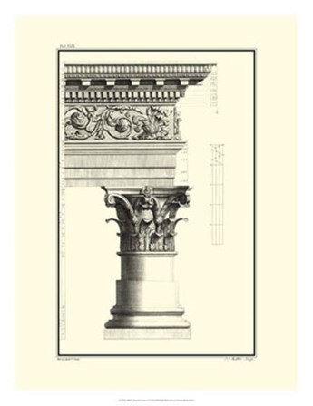 B&W Column and Cornice IV by Giovanni Borra art print