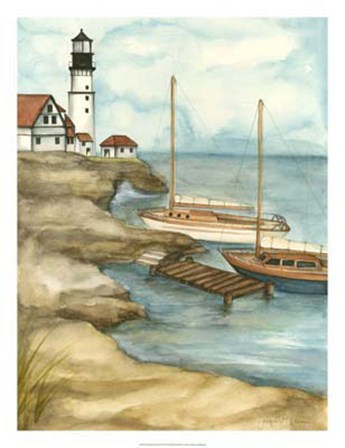 Shoreline Dock I by Jennifer Goldberger art print