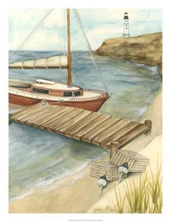Shoreline Dock II by Jennifer Goldberger art print