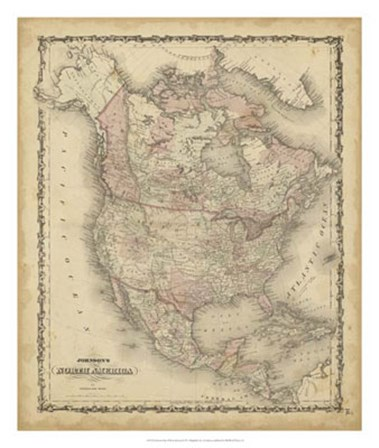 Johnson's Map of North America by Scott Johnson art print