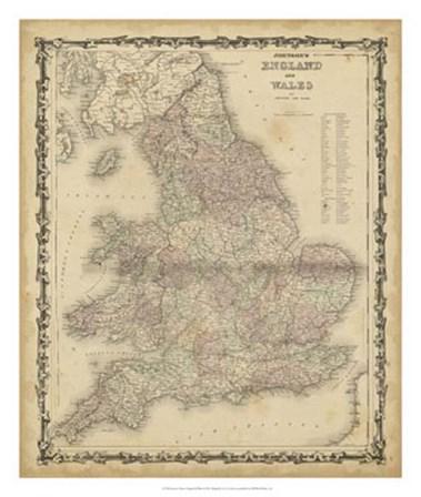 Johnson's Map of England & Wales by Scott Johnson art print