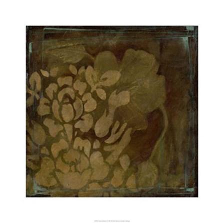 Damask Silhouette I by Jennifer Goldberger art print