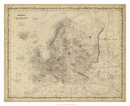 Johnson's Map of Europe by Scott Johnson art print