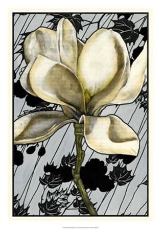 Patterned Magnolia I by Jennifer Goldberger art print
