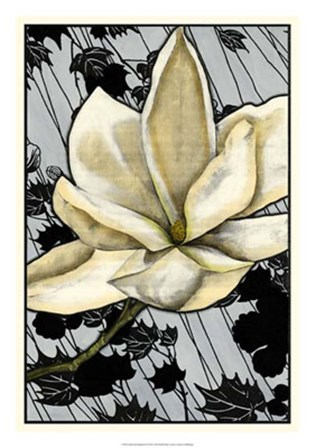 Patterned Magnolia II by Jennifer Goldberger art print