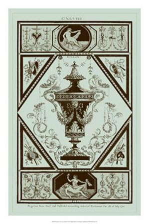 Urns in Celadon I by Michelangelo Pergolesi art print