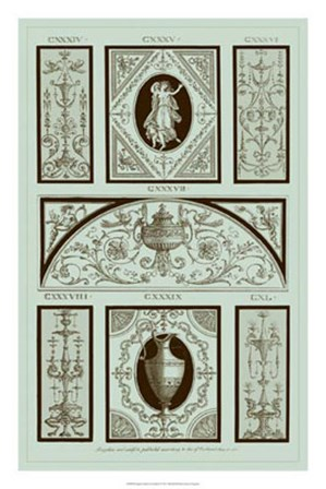 Panel in Celadon I by Michelangelo Pergolesi art print