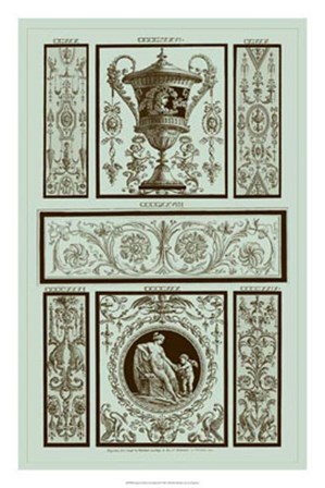 Panel in Celadon II by Michelangelo Pergolesi art print