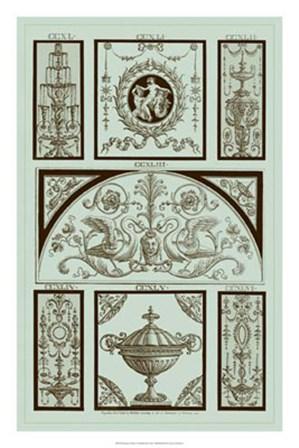 Panel in Celadon III by Michelangelo Pergolesi art print