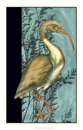 Heron in the Grass I by Jennifer Goldberger art print
