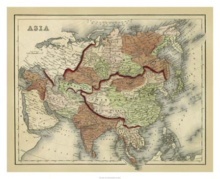 Antique Map of Asia by Scott Johnson art print