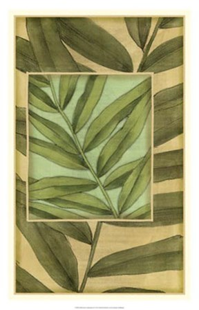 Palm Inset Composition II by Jennifer Goldberger art print