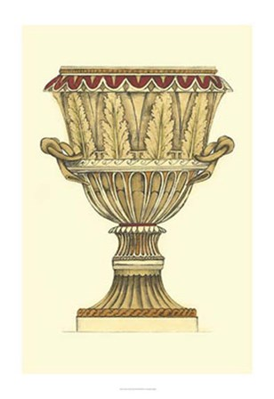 Neutral Urn Sketch II by Jennifer Goldberger art print