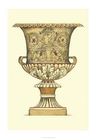 Neutral Urn Sketch III by Jennifer Goldberger art print